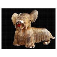 Charming Marcel Boucher Skye Terrier pin, c. 50-60's