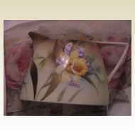 Lovely Vintage Hand painted Daffodil Cream Pitcher Signed