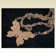 Artisan Sterling Silver Butterfly Pendant