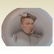 Historical Sevres Hand Painted Plate Charles IX