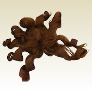 Antique Hand Tied Human Hair Wig -  Very Full