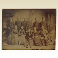 Very Large Family Picture from 1870's
