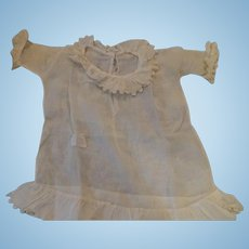 Cream Colored Sheer Antique Doll's dress