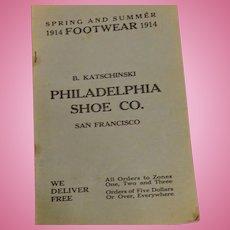 Fun Antique Shoe Catalogue from San Francisco circa 1914
