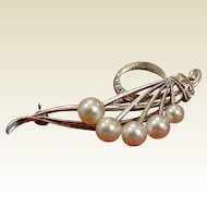 Beautiful Marked Mikimoto Pin - Just in time For Valentine's Day!
