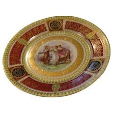 Beautiful Figural Dessert Plate, marked