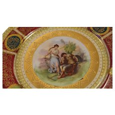 Beautiful Figural Dessert Plate, marked