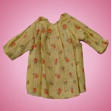 Tiny Plain Yellow Floral Dress