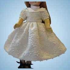 """Pique Flowered Dress and Chemisette for 12"""" Doll"""