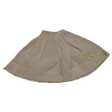 Antique Pantaloons and Vintage Madame Alexander petticoat