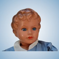 "Very Nice 25"" Vintage Plastic/celluloid Doll Turtlemarked"