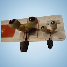 Two pair of German Rocker Eye Assemblies, Small and Tiny