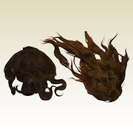 2 Antique Hand Tied wigs