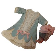 Beautiful Antique Silk Dress and Hat