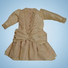 Sweet Vintage Dropped Waist Dress for Antique French or German Dolls