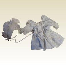 Pale Blue Vintage Dress and Hat