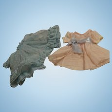Two Nylon 1950's Dresses---FREE Shipping