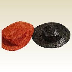 2 Vintage Doll Hats