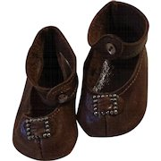 Brown Vintage Leather Shoes; signed