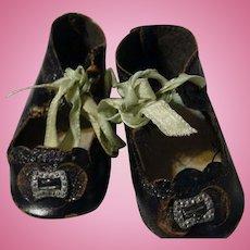 Antique Black Leather German Shoes