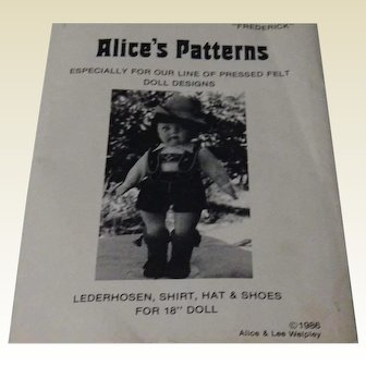Uncut Pattern for Boys Lederhosen Costume
