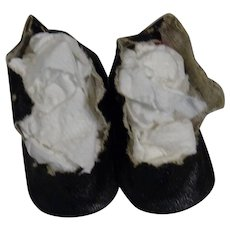 Pair of Vintage Oil Cloth shoes