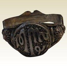 Antique 800 Silver Inscribed Bracelet