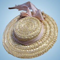 Vintage Straw Doll Hat