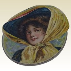 Antique Box with Gibson Girl