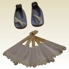 Handmade Huret Shoes and Fan