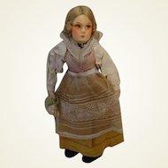 """12"""" 1930's Felt Doll in Costume"""