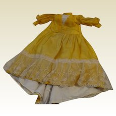 Very Lovely Bright Gold Antique Dress
