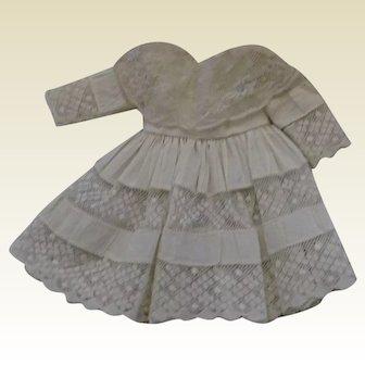 Antique White cotton and lace dress