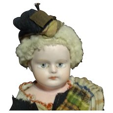 """13"""" Immaculate All Original Antique Composition 1880's Doll"""