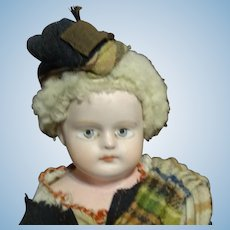 "13"" Immaculate All Original Antique Composition 1880's Doll"