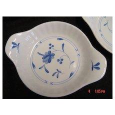 Royal Worcester Blue Bow China Individual Au Gratin Dish