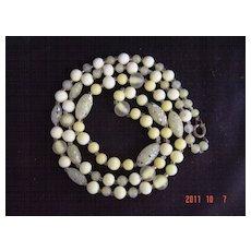 Vintage Art Glass Necklace