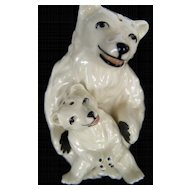 Ceramic Art Studios Polar Bears Salt and Pepper Shakers