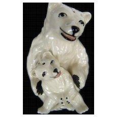 Ceramic Art Studios Polar Bears Salt and Pepper Shakers