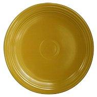 "Homer Laughlin Fiestaware Yellow 12"" Round Chop Plate"