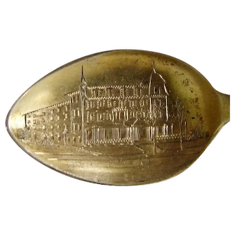 Minot House, Asbury Park, NJ Sterling Souvenir Spoon