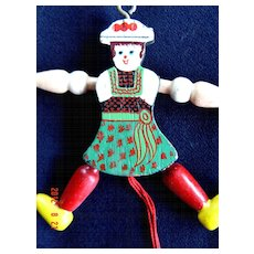 Vintage Gretel Wooden Pull Toy