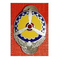 WWII Sterling Enameled US Army Air Corps Insignia