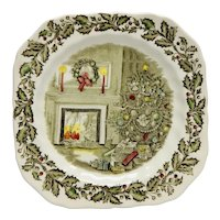 Johnson Brothers Merry Christmas Square Salad or Dessert Plate England