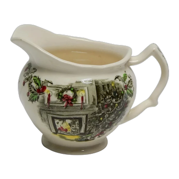 """Johnson Brothers """"Merry Christmas"""" Creamer Made in England"""