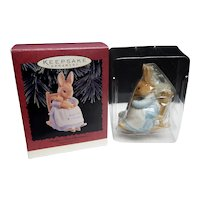 Hallmark Keepsake Beatrix Potter Baby's First Christmas Ornament 1996
