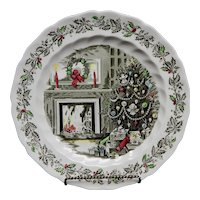 """Johnson Brothers """"Merry Christmas"""" Chop Plate or Round Platter Made in England"""
