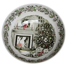 """Johnson Brothers """"Merry Christmas"""" Punch Bowl Made in England"""