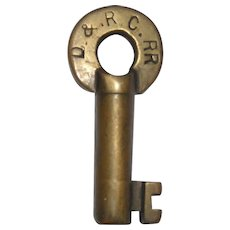 Denver & Rio Grande Brass Switch Key