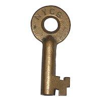 New York Central System Brass Switch Key